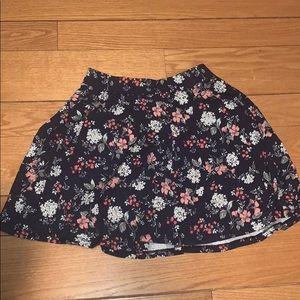 Floral Patterned SO Skater Skirt
